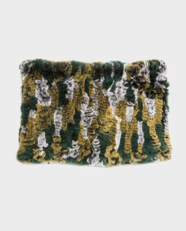 Bufanda de piel de rex multicolor marca Swarz