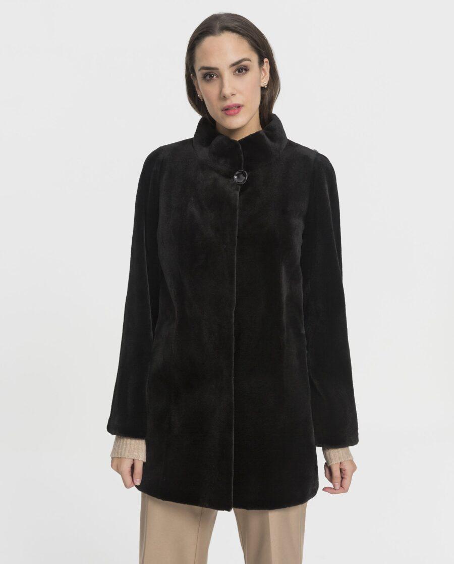 Chaqueta de visón rasado negro para mujer marca Saint Germain
