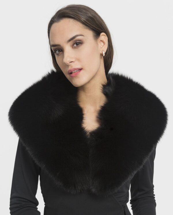 Cuello de zorro negro para mujer marca Saint Germain