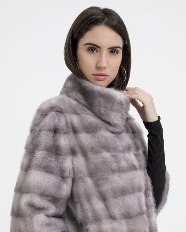 Chaqueta de visón gris zafiro para mujer marca Saint Germain