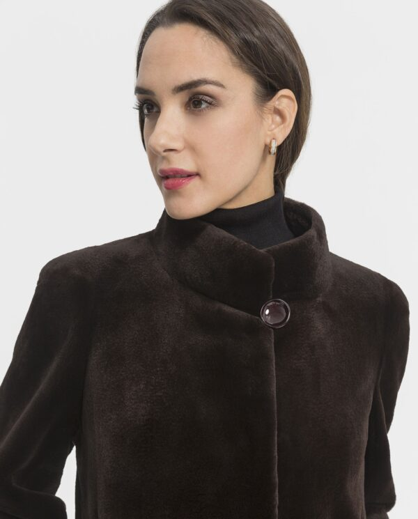 Abrigo largo de visón rasado Saga Furs para mujer color marrón marca Saint Germain