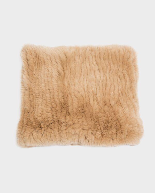 Bufanda larga Swarz de pelo color beige