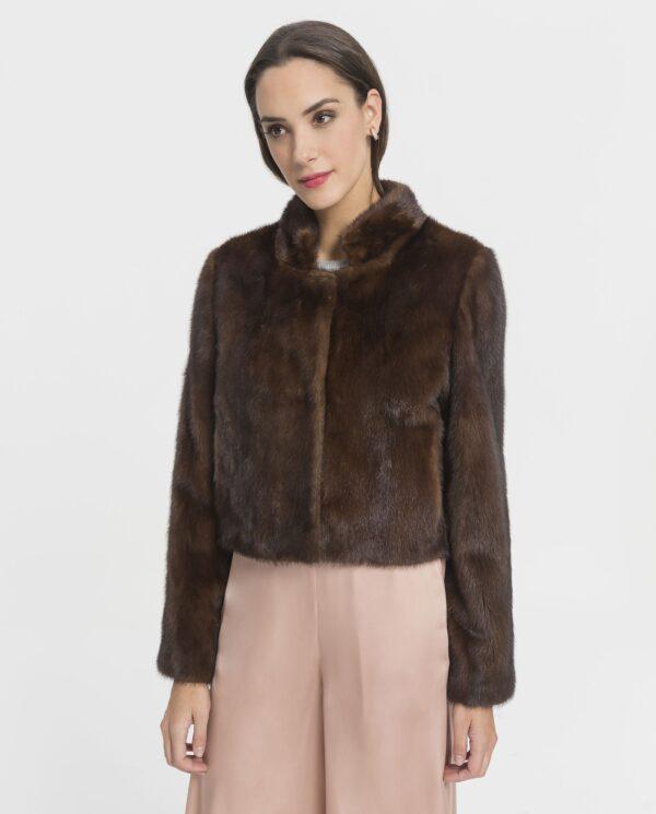 Chaqueta de visón marrón para mujer marca Marcelo Rinaldi