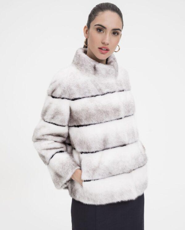 Chaqueta de visón blanco Kohinoor Saga para mujer marca De la Roca