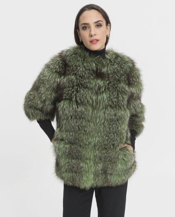 Abrigo de zorro verde Saga Blue Fox marcar Marcelo Rinaldi