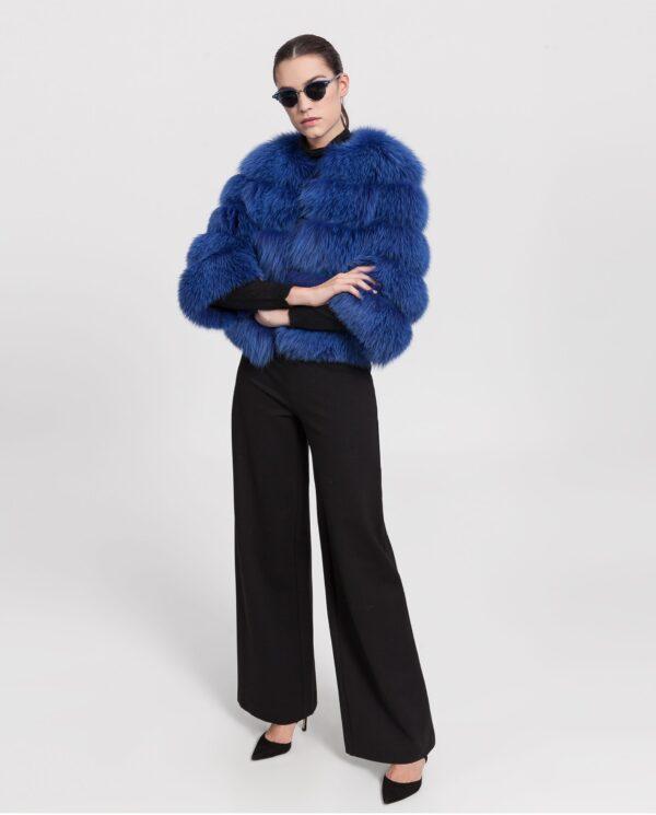 Chaquetón de zorro azul para mujer