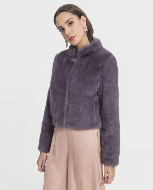 Chaqueta de visón juvenil color violeta para mujer marca Marcelo Rinaldi