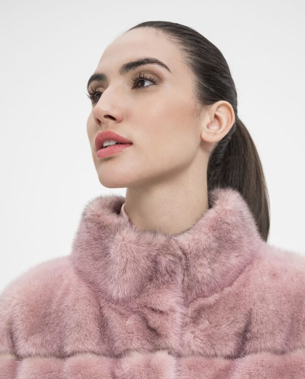 Chaqueta de visón juvenil de color rosa para mujer marca De la Roca
