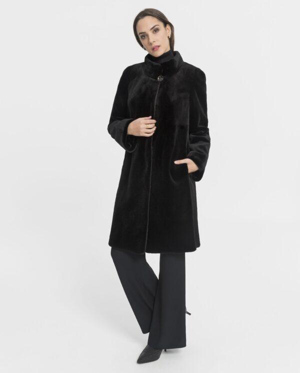 Abrigo largo de visón rasado Saga Furs para mujer color negro marca Saint Germainsón rasado negro