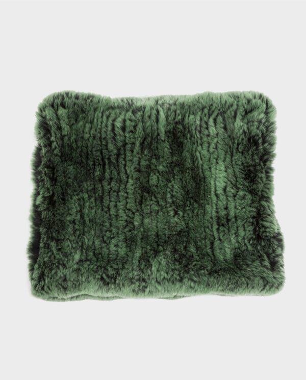 Bufanda de piel de rex verde marca Swarz