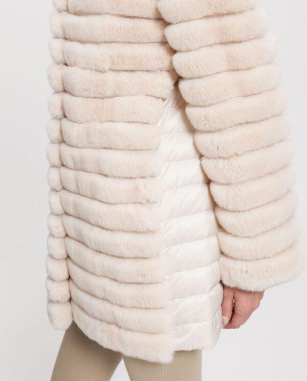 Abrigo de pelo de rex color beige marca Saint Germain