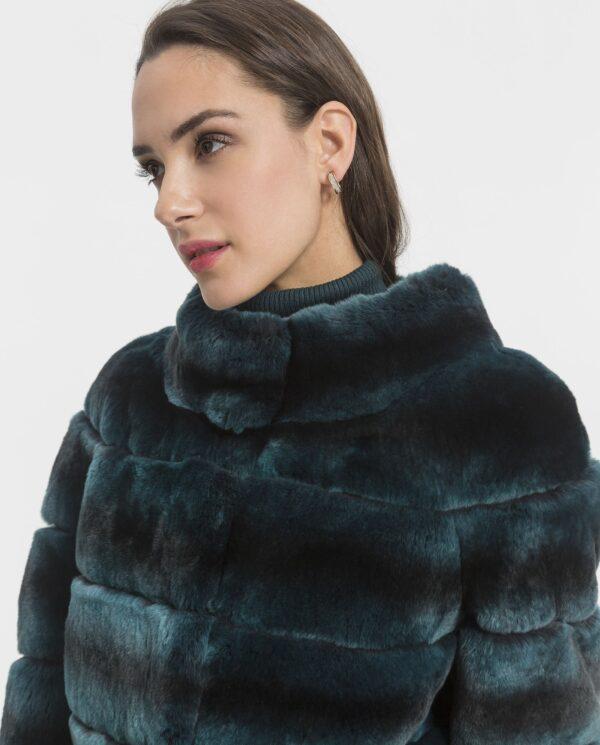 Chaqueta de rex verde para mujer marca De la Roca