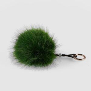 Llavero de mujer Swarz de zorro estilo pomón color verde