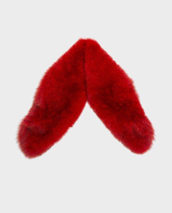Cuello largo de piel de zorro color rojo marca Saint Germain
