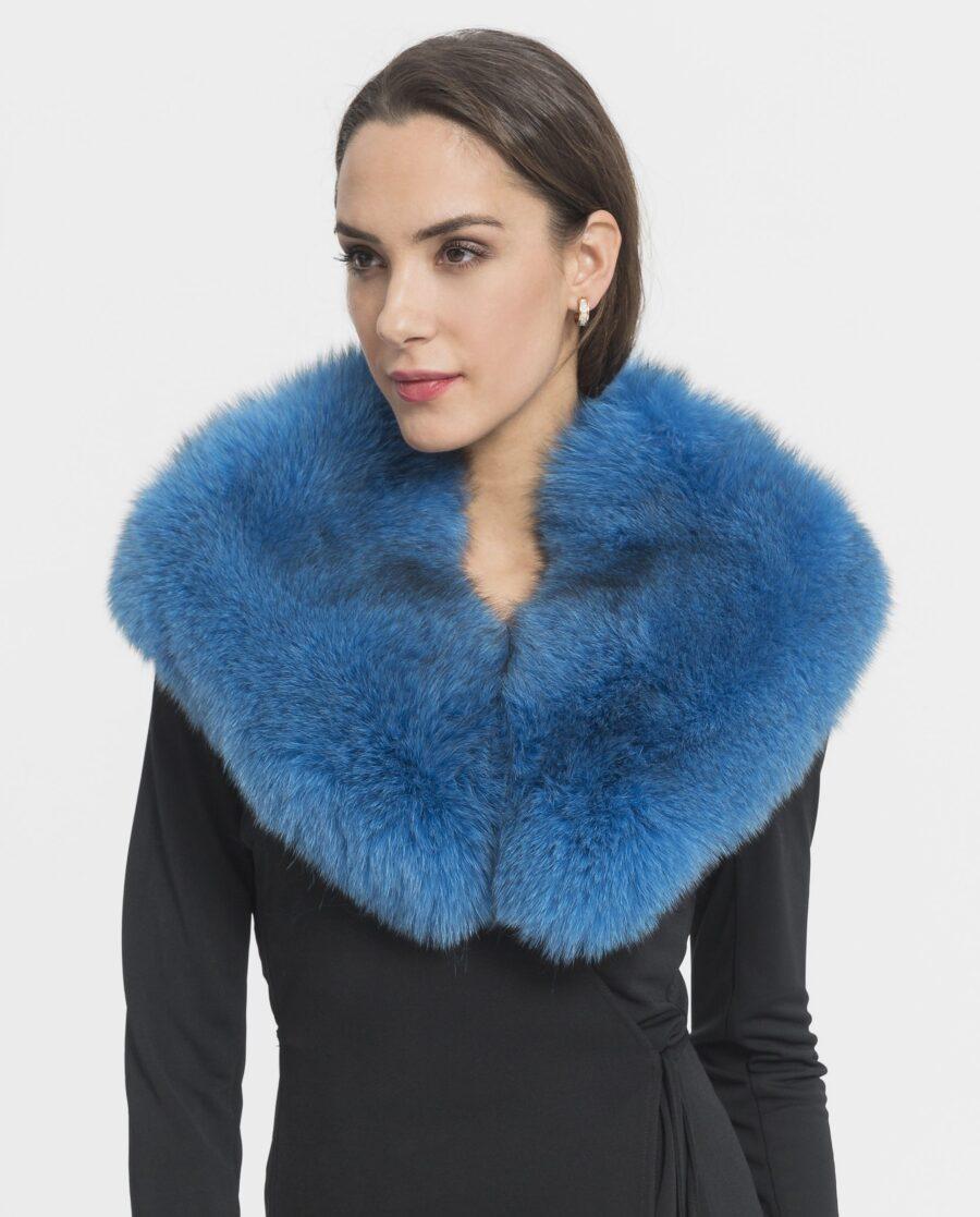 Cuello largo azul de zorro Saint Germain