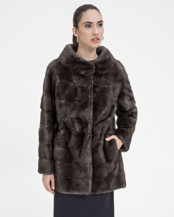 Abrigo de piel natural de visón Saga Furs marca Saint Germain