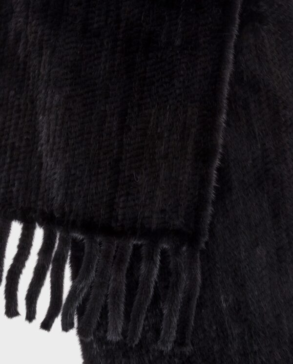 Bufanda larga Saint Germain de pelo negro