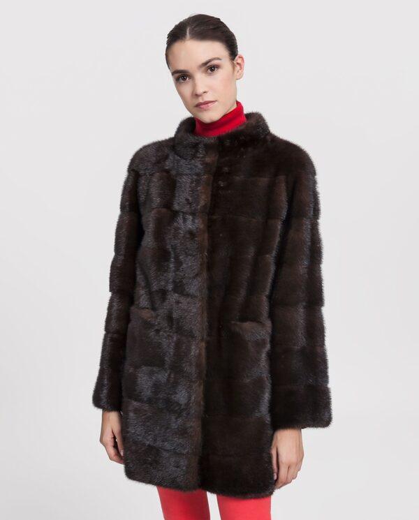 Abrigo de visón marrón para mujer marca Saint Germain