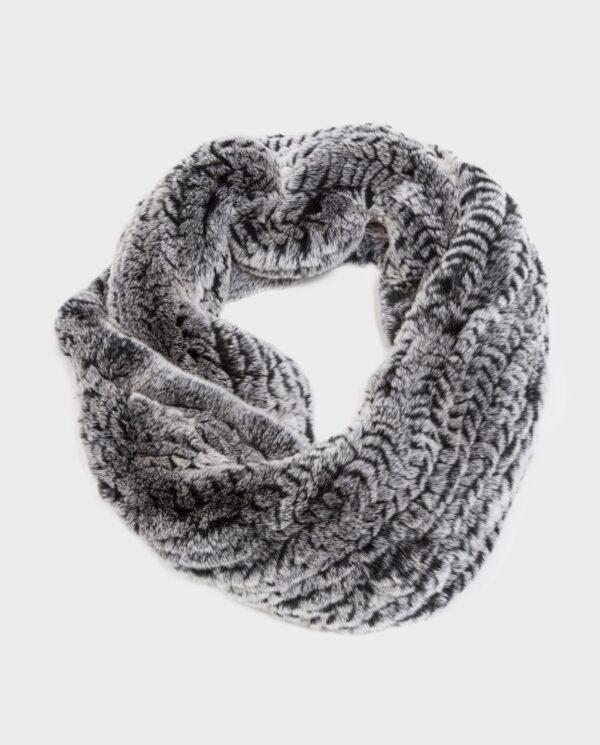 Bufanda de piel de rex gris marca Swarz