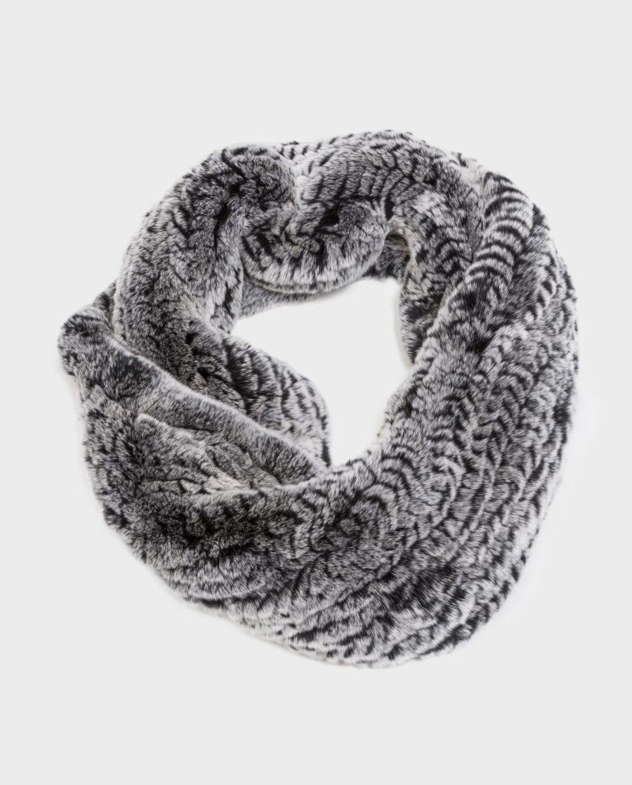 Bufanda larga Swarz de pelo gris