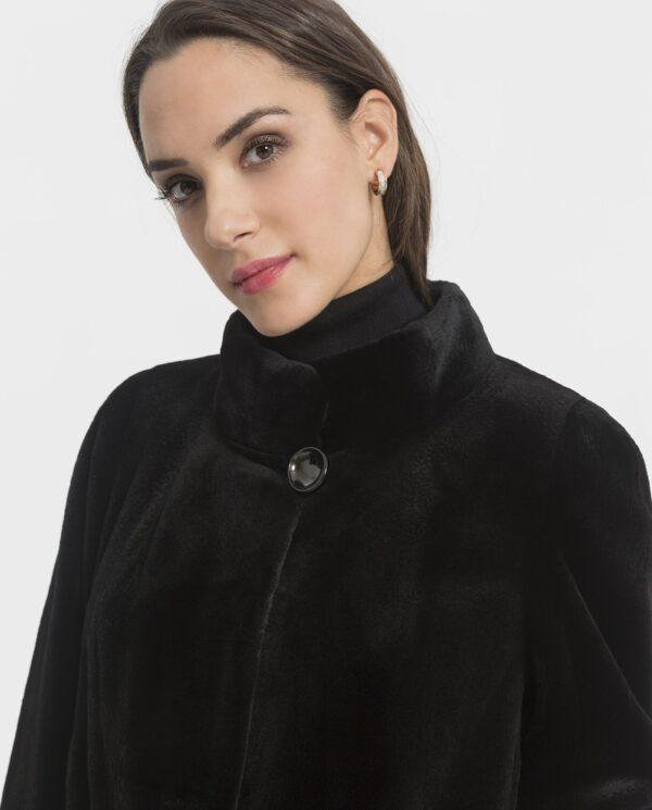 Abrigo largo de visón rasado Saga Furs para mujer color negro marca Saint Germain