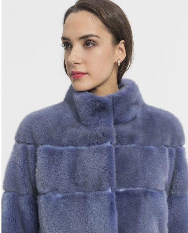 Chaquetón de mujer De la Roca de visón Saga azul lavanda