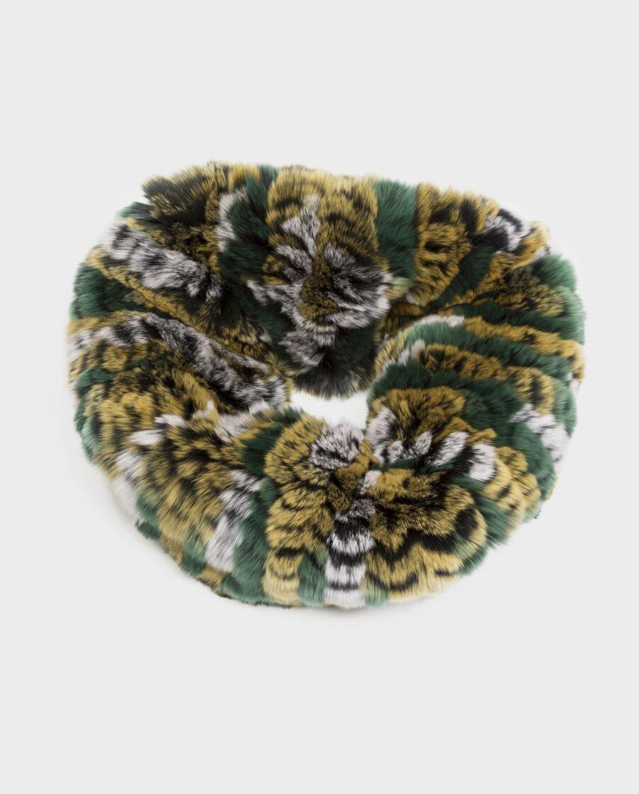 Bufanda larga Swarz de pelo multicolor