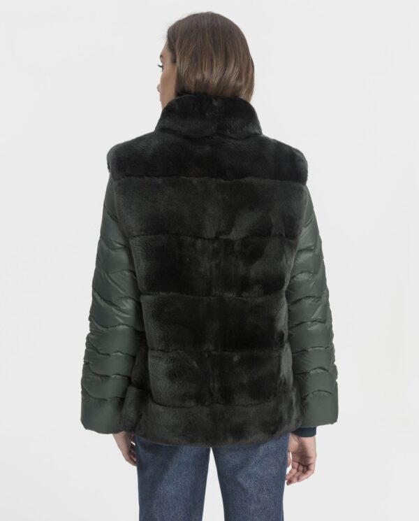 Abrigo de mujer De la Roca de rex verde con mangas desmontables