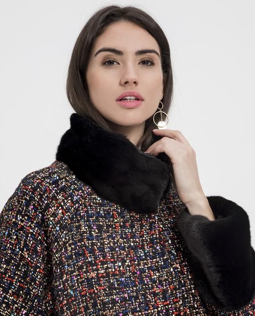 abrigo de textil con visón