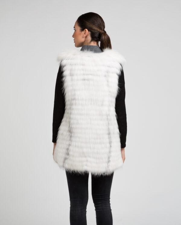Chaleco de mujer de zorro y punto con trabajo estilo linner