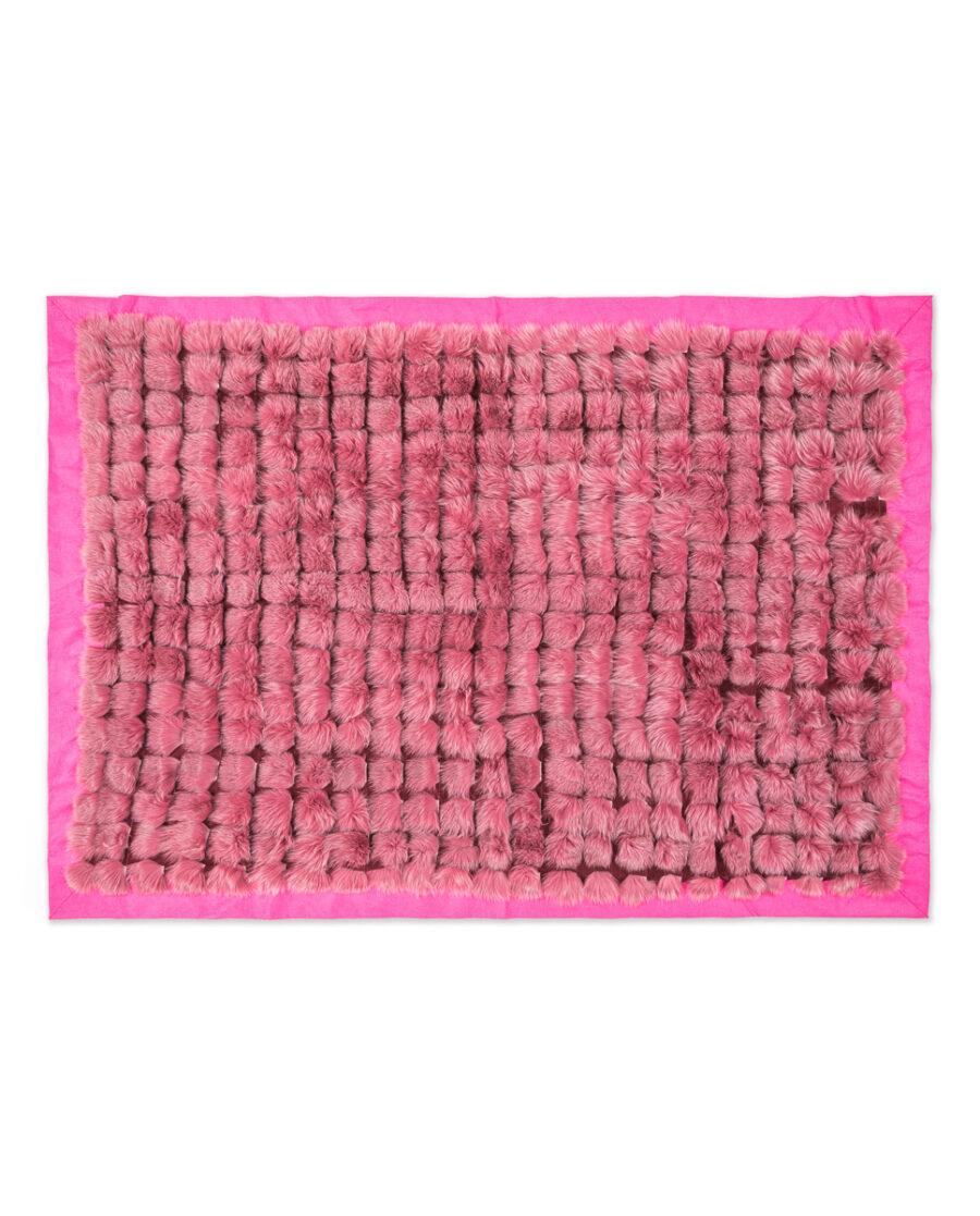 Manta Swarz de pelo de zorro en color rosa