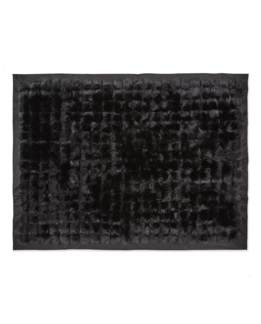 manta color negro piel