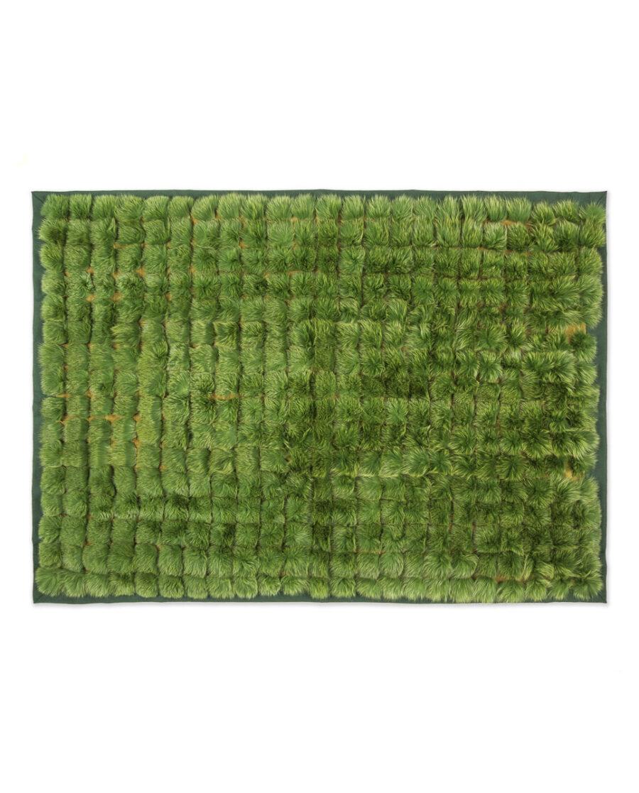 Manta Swarz de pelo de zorro en color verde