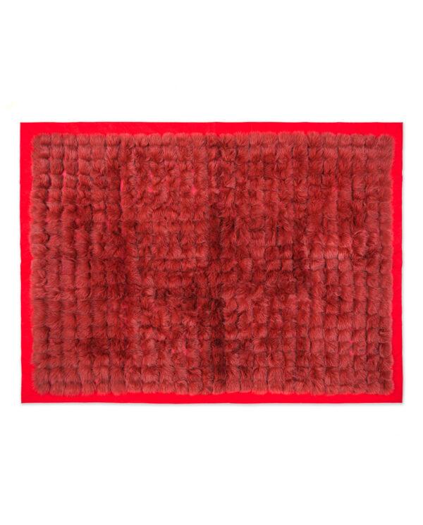 Manta Swarz de pelo de zorro en color rojo