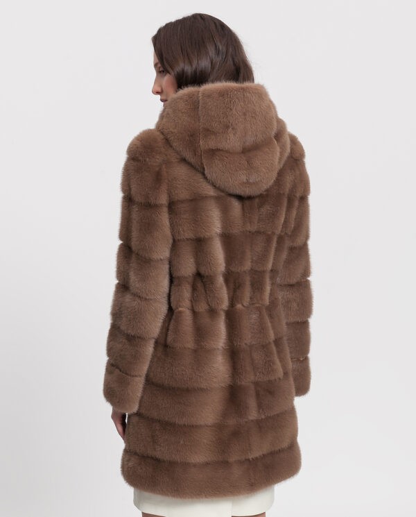abrigo vison pastel