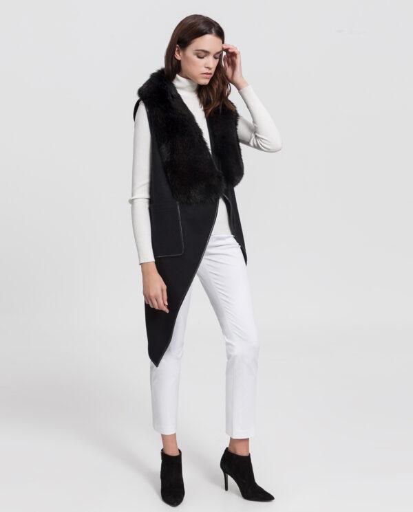 chaleco de cashmere negro